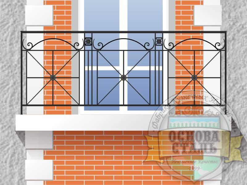 Кованый балкон 3031.